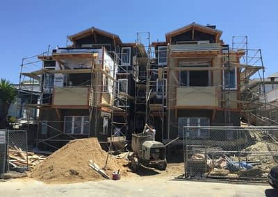 West Coast Building and Design work on a scaffold lath project to create a beautiful ADU, otherwise known as an Accessory Dwelling Unit