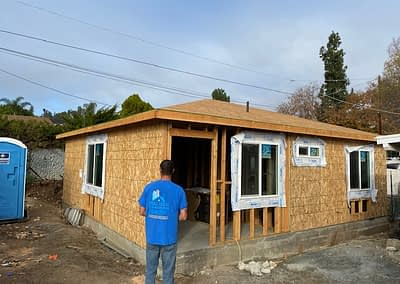 West Coast Building and Design work on a project, showcasing Isiah Under construction to create a beautiful ADU, otherwise known as an Accessory Dwelling Unit